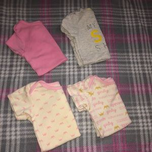 Lot Of 6-9M Baby Girl Onesies One Pieces